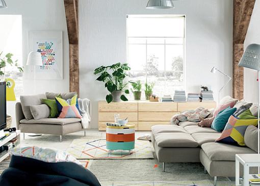 Catalogo ikea 2015 salones nordicos mueblesueco for Decoracion de salones ikea