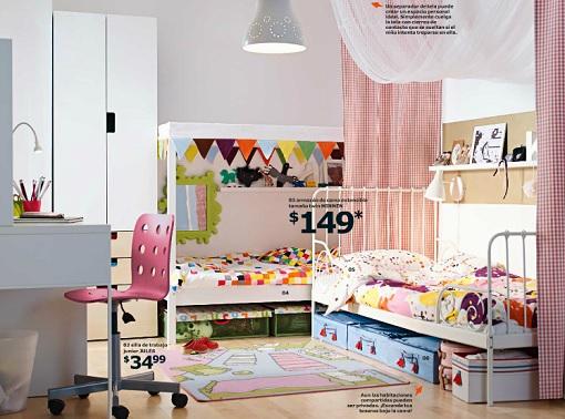 Kinderbett Mit Gästebett Ikea ~ Catálogo Ikea 2015 niños ideas para el dormitorio infantil