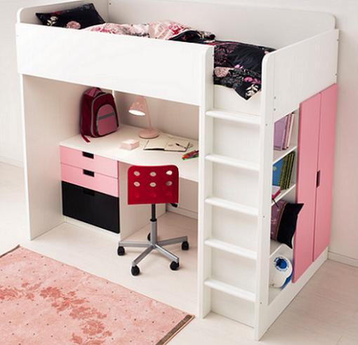 ikea stuva camas altas con escritorio armario