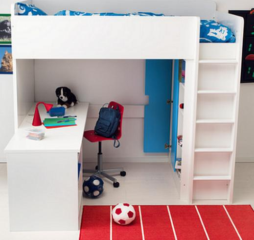Ikea stuva camas altas mueblesueco for Cama nino ikea