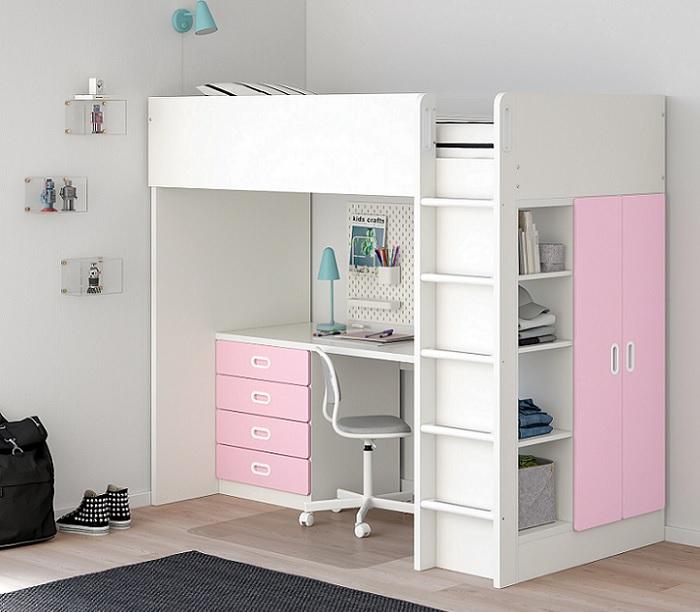 Ikea stuva camas altas para ni os con escritorio y armario - Ikea cama alta ...