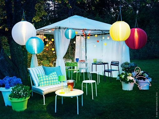 Iluminación Ikea para el jardín lámparas solares Solvinden