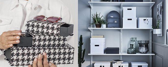 cestas y cajas de ikea muy practicas y decorativas