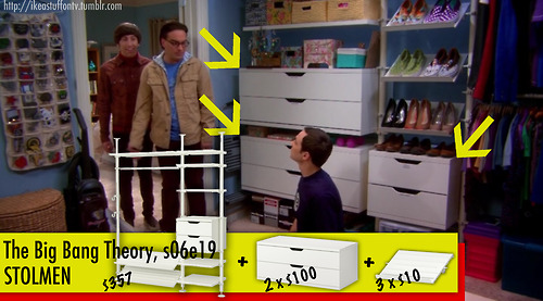 Decoraci n ikea en las pel culas y series de televisi n for Decoracion piso big bang theory
