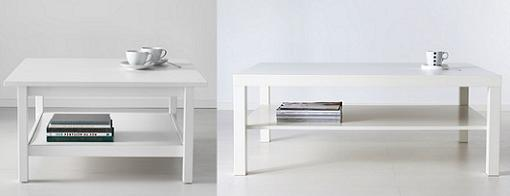 Mesas de centro ikea clasicas hemnes lack mueblesueco for Ikea mesas salon centro