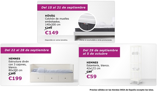 ofertas ikea septiembre 2014