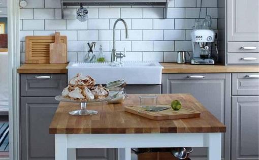 Decoracion mueble sofa encimeras madera ikea - Cocina madera ikea ...