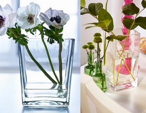 Jarrones de cristal mueblesueco - Jarrones decorativos para jardin ...