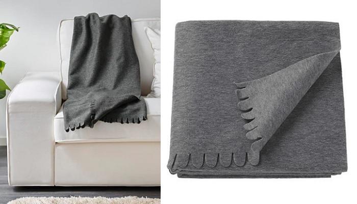 manta polar ikea para el sofa