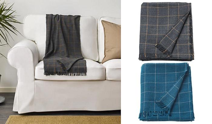 mantas Ikea de cuadros para el sofa