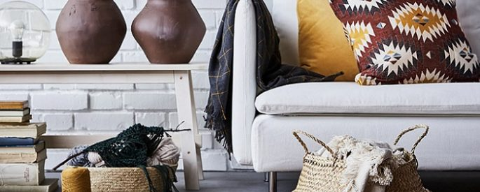 mantas Ikea para el sofa