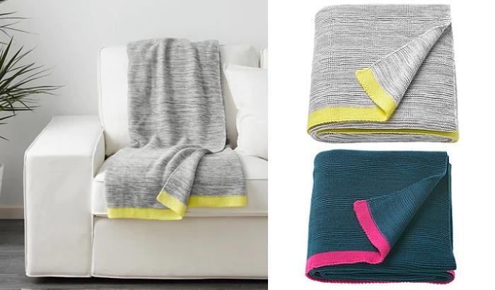 mantas Ikea para el sofa LISAMARI