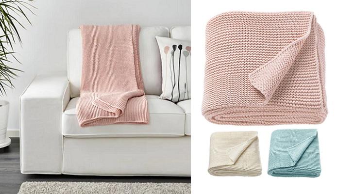 mantas Ikea para el sofa de punto