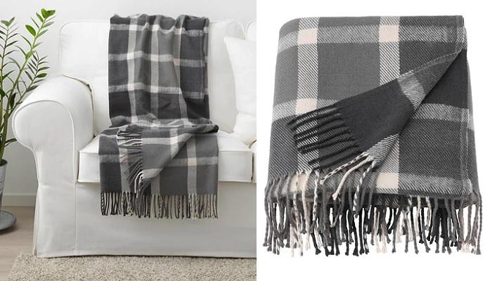 mantas de lana Ikea para el sofa KAVELDUN