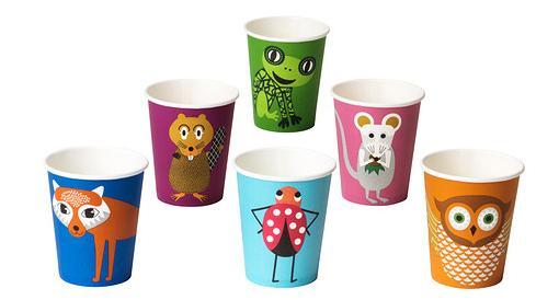 vasos platos de papel