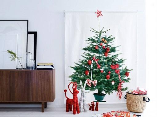 M s adornos e ideas para el rbol de navidad ikea - Arbol navidad tela ...