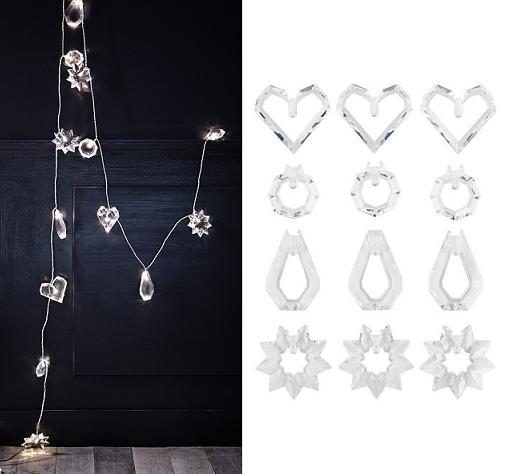 Luces de navidad ikea blancas para exteriores e for Luces led jardin ikea