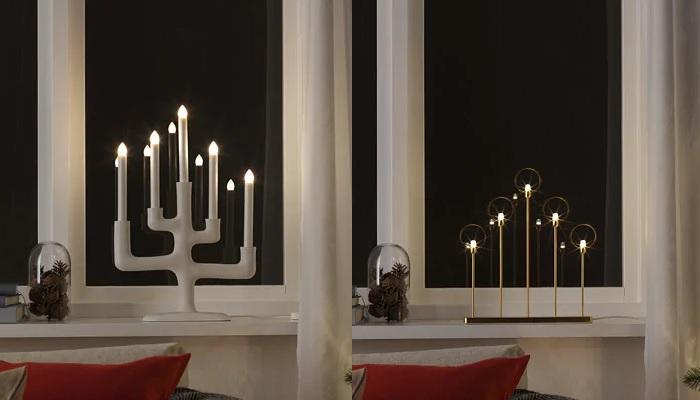 luces de navidad ikea candelabros led