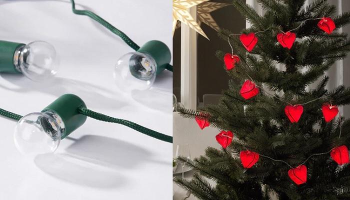luces de navidad ikea guirnaldas bombillas corazones