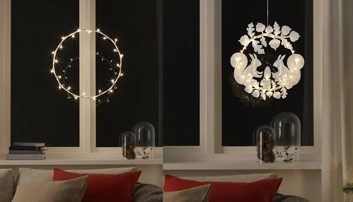 luces de navidad ikea lamparas de pared