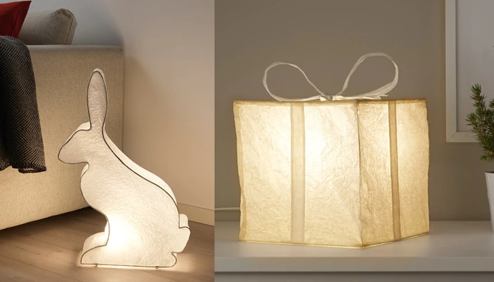 luces de navidad ikea lamparas mesa figuras