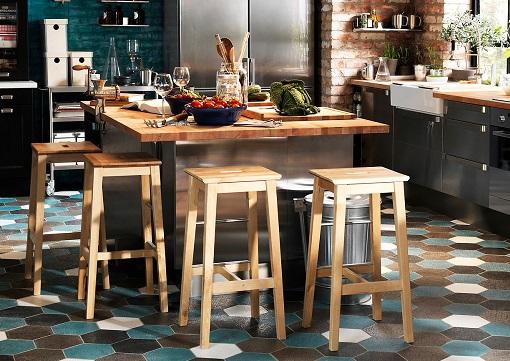 Barras de madera para bar great resultado de imagen para for Mesa cocina con taburetes