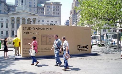 apartamento en una caja