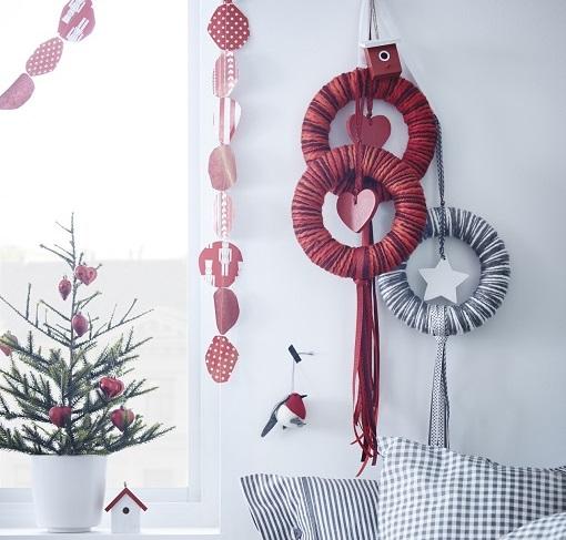 coronas navideñas ikea