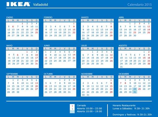 Horario Ikea Valladolid 2015