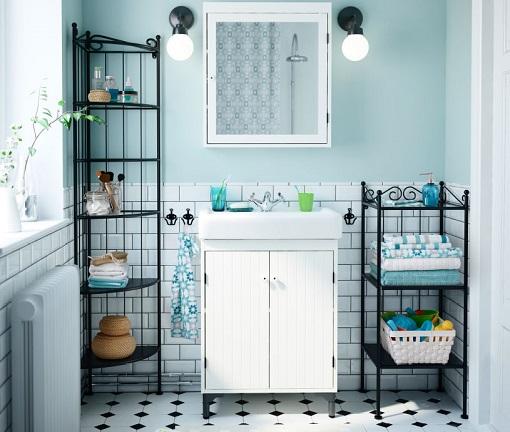 Los muebles auxiliares de baño más prácticos de Ikea - mueblesueco