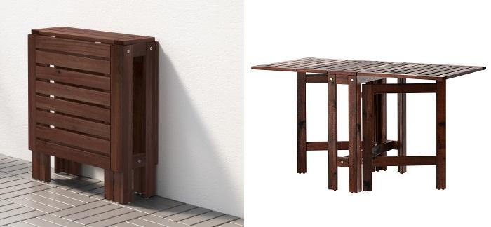 mesa de jardín abatible