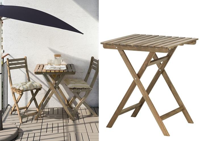 mesas de jardín plegables