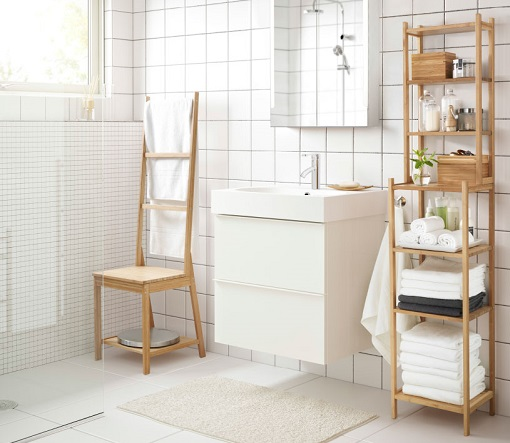 Los muebles auxiliares de baño más prácticos de Ikea  mueblesueco
