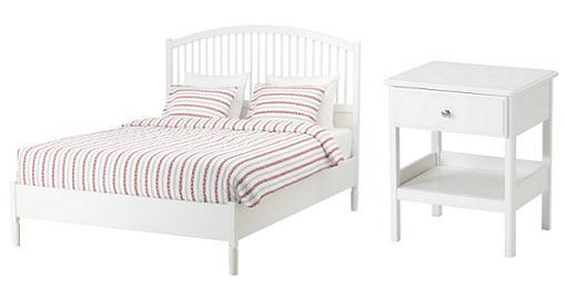 dormitorio ikea tyssedal cama mesilla de noche