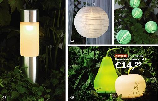 iluminación jardín ikea