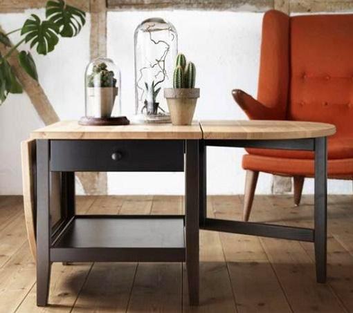 Mesa ikea rustica mueblesueco for Ikea mesa centro elevable