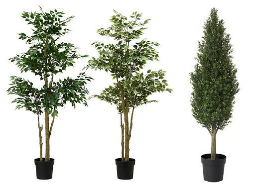 plantas artificiales ikea en maceta