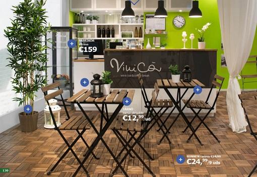 restaurante decorado con ikea