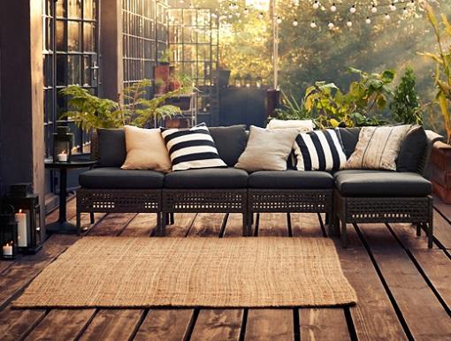 Mobiliario terraza ikea muebles para espacios reducidos for Sofas terraza ikea