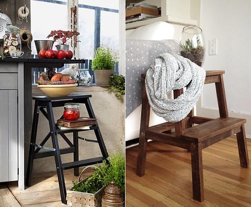 Taburete escaleras ikea mueblesueco for Taburete escalera cocina