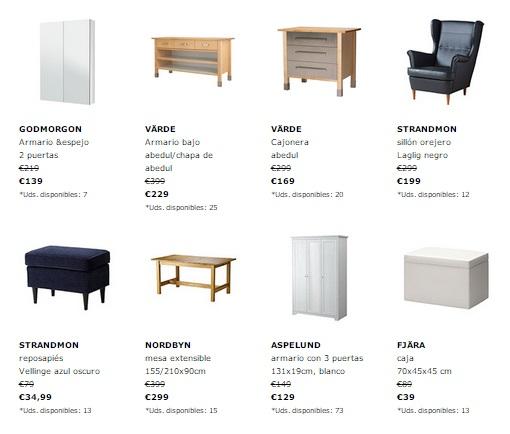 últimas unidades Ikea