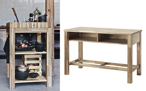 isla de cocina con palets ikea skogsta para cocinas nrdicas con muebles de madera mueblesueco - Islas De Cocina Ikea