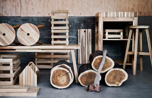 SKOGSTA ikea madera acacia