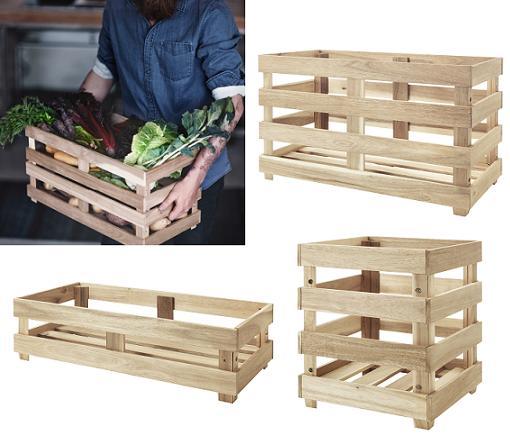 Skogsta ikea palets mueblesueco for Cajas de madera ikea
