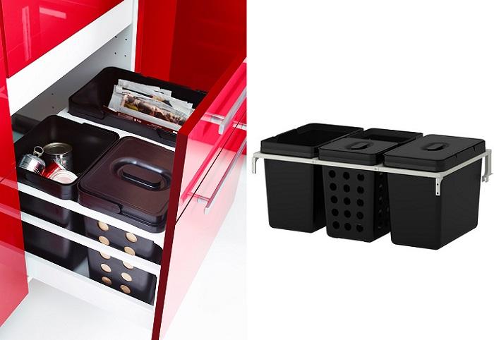 Ikea variera mueblesueco for Cubo basura extraible ikea