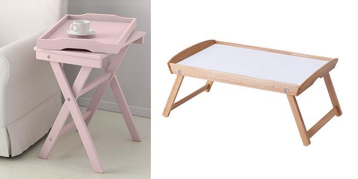Bandejas ikea para servir de madera estilo vintage - Mesa para la cama ikea ...
