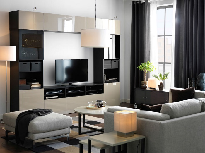 Salon ikea facilisimo: decoracion mueble sofa salones con cocina ...