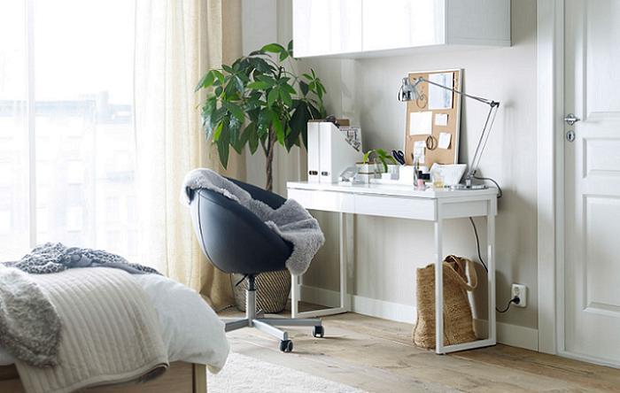 Mesas juveniles de estudio mesa estudio infantil blanca for Ikea mesas escritorio