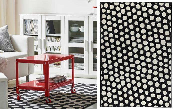 Ikea alfombras salon lunares mueblesueco for Alfombras de salon
