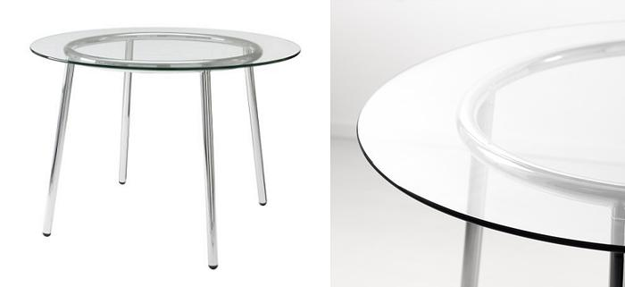Mesas de cristal ikea redonda mueblesueco for Ikea mesa de cristal